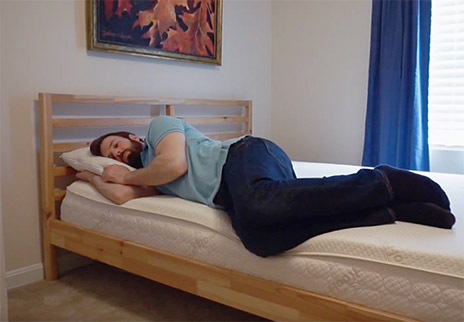 Snuggle-Pedic-Laying-Down