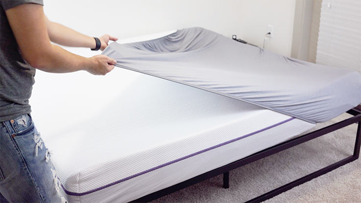 Purple sheets- stretchy comfort