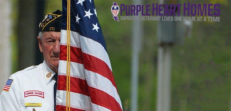 Veteran Holds USA Flag Respectfully